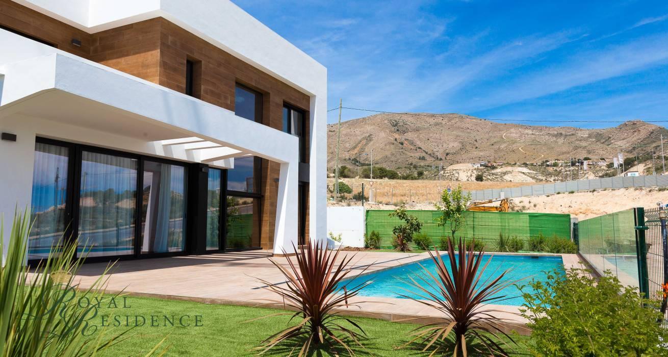 Modern villas Spain, moderne villas spanje, villa kopen spanje, villa kopen costa blanca, villa kopen finestrat, huizenaanbod spanje, homes for sale spain, nieuwbouw spanje, new construction spain