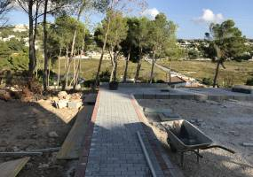 5 plots for sale with sea views in Moraira