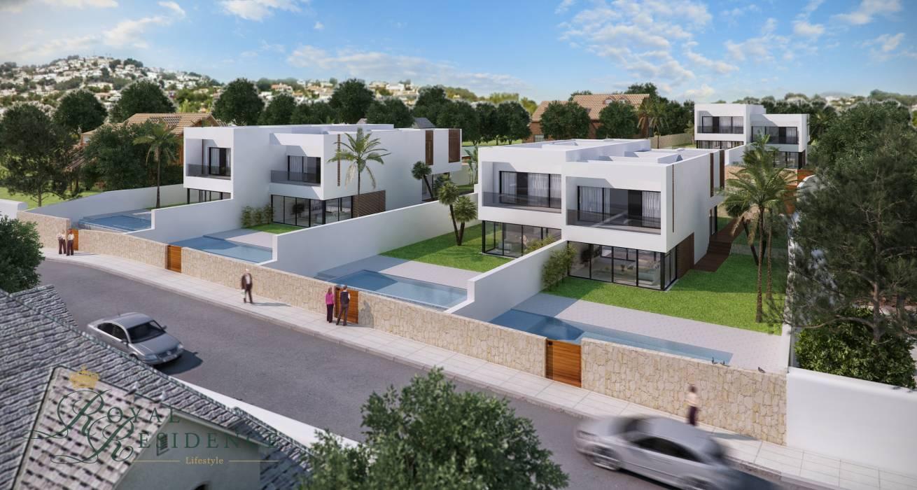 Semi-detached villas with sea view in Moraira